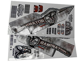 Raminator Monster Truck Sticker Sheets