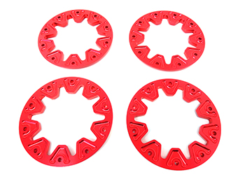 RCMAX Raminator Monster Truck Billet Beadlock Set (red)