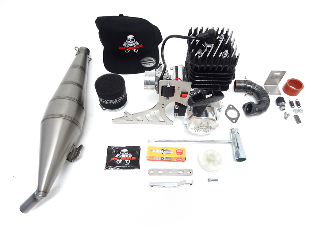 RCMAX 40GT Dragster Engine/Titanium Pipe Kit for Primal RC Dragster (IN STOCK READY TO SHIP OUT!)