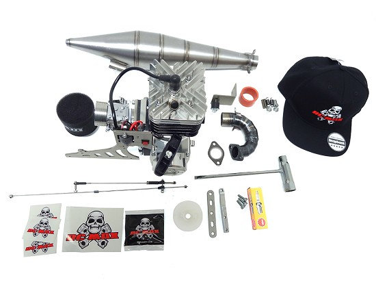 RCMAX SUPREME 55 Dragster Engine/Titanium Pipe Kit for Primal RC Dragster